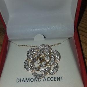 diamond accented
